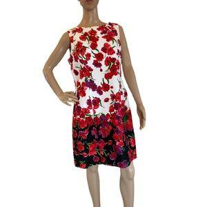 Chaps sleeveless floral dress.